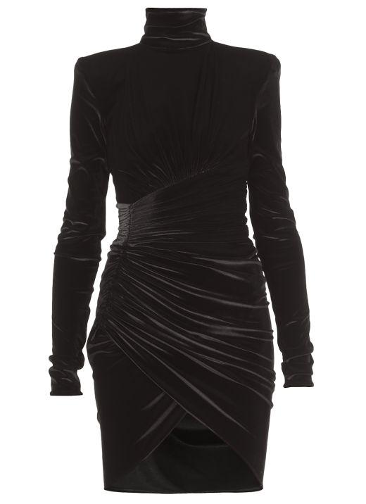 Draped short dress