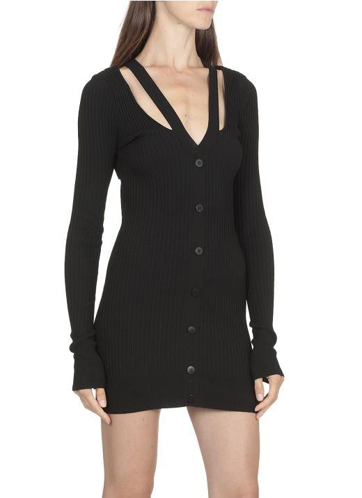 Ribbed short dress