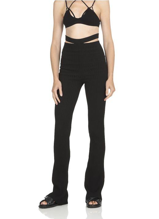 High waist flared pants