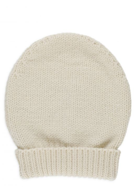 Wool and cashmere beanie hat