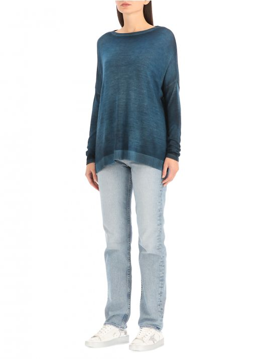 Cashmere and silk sweater