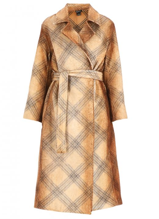 Knitted trench coat