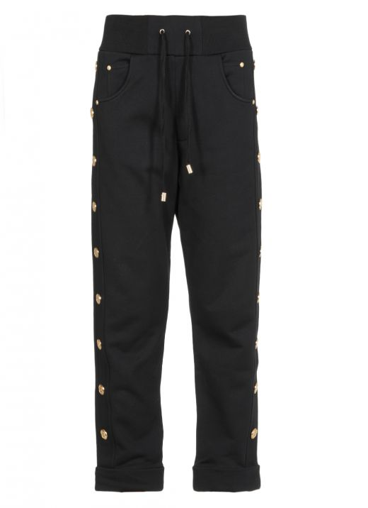 Pants with buttons