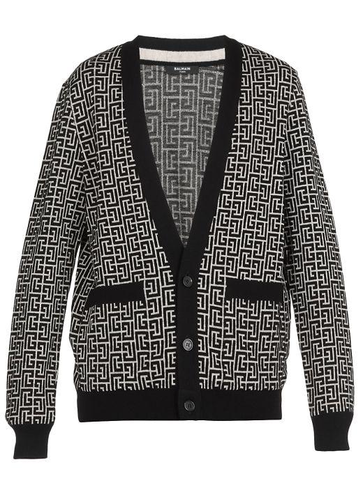 Monogram knitted cardigan