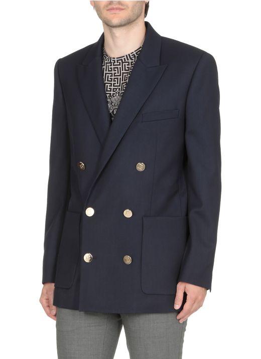 Virgin wool double breasted jacket