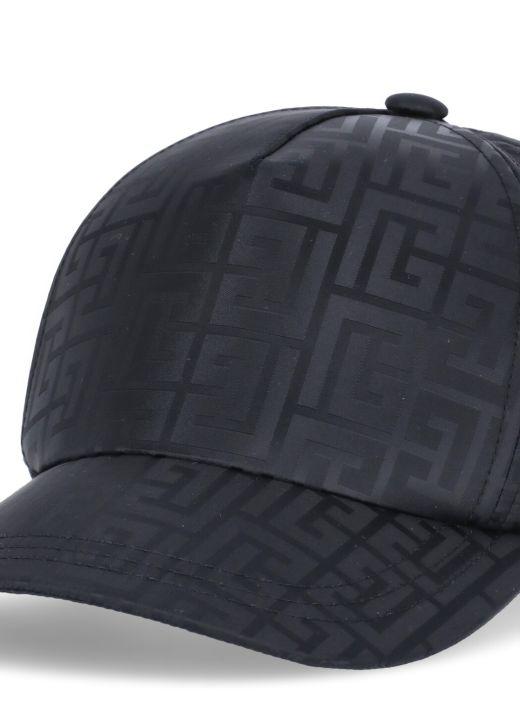 Baseball cap with Balmain monogram