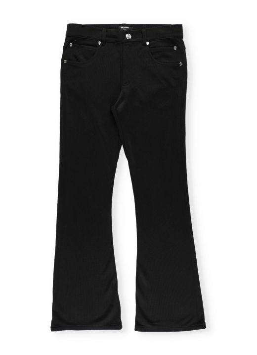 Stretch trousers with embroidery