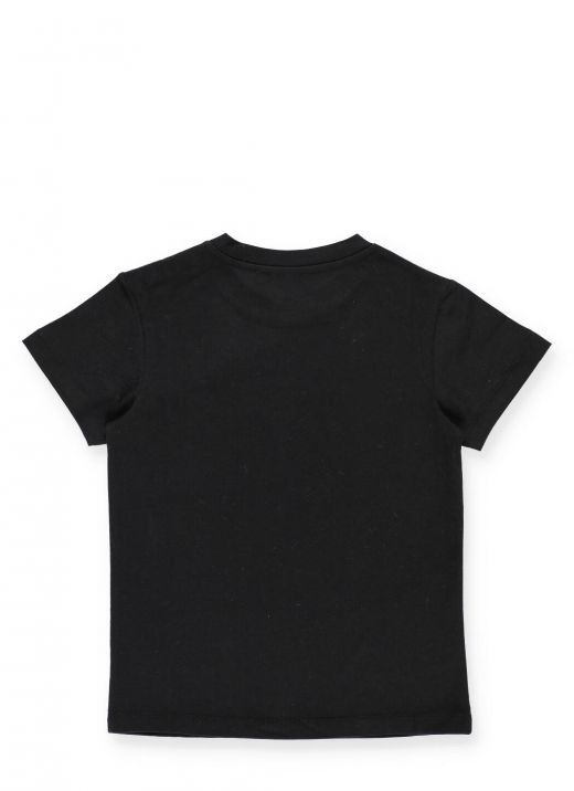 Logo T-shirt with embossed buttons