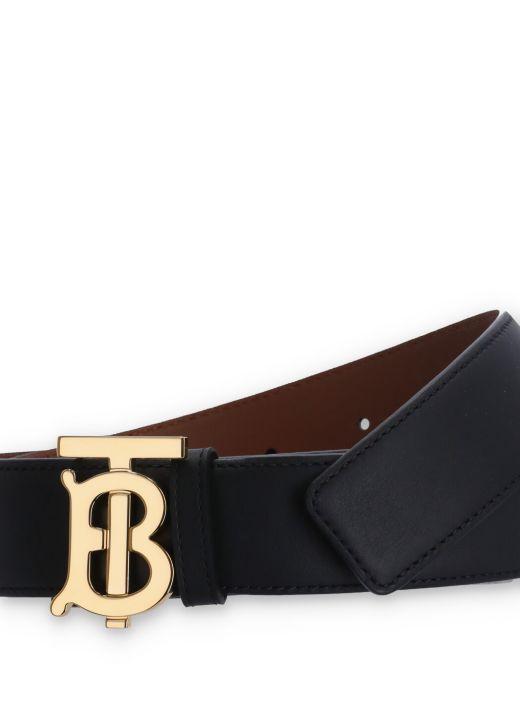 Reversible monogram belt