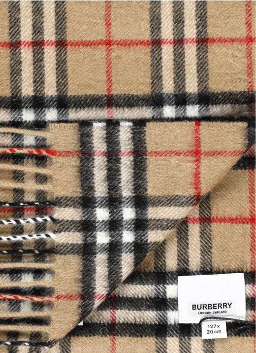 Vintage check scarf