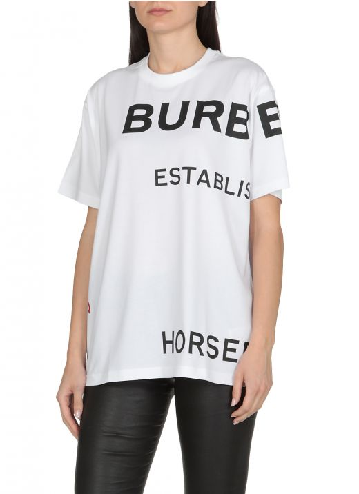 T-shirt with Horseferry print