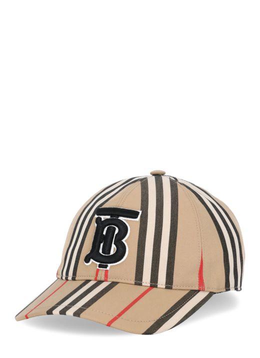 Iconic stripes baseball cap