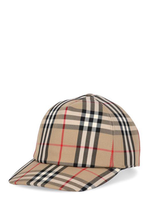 Vintage check trucker cap