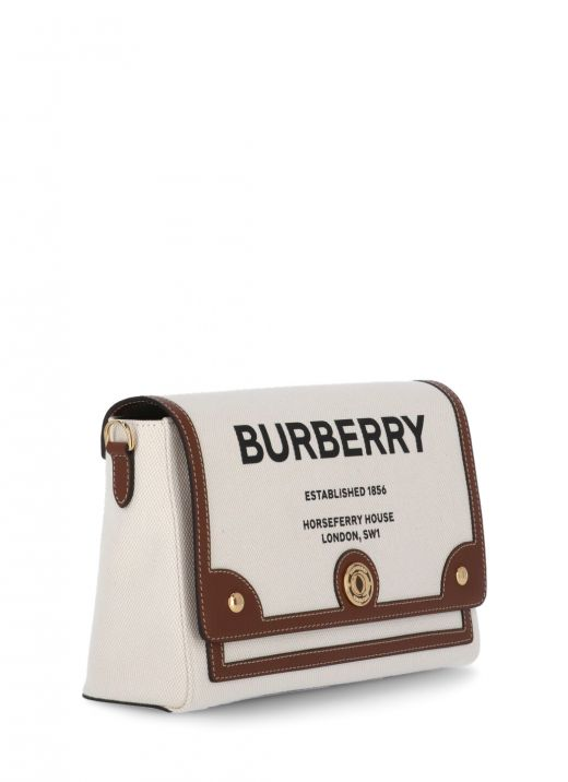 E-canvas Note shoulder bag with Horseferry print