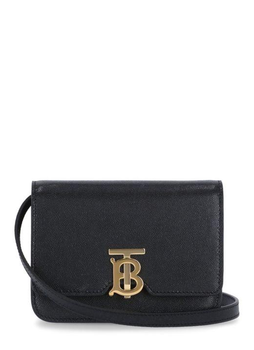 Grained leather Mini TB bag
