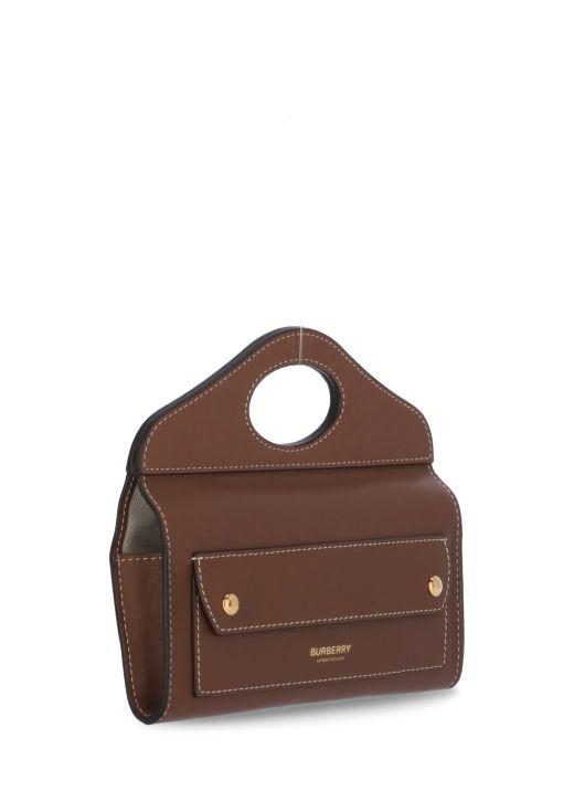 Leather Pocket mini clutch