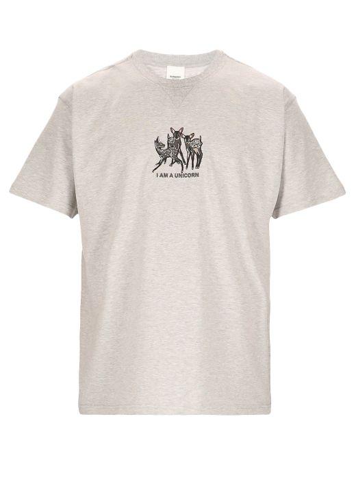 Embroidered deer t-shirt