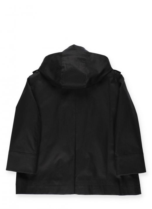 Waterproof trench with hood