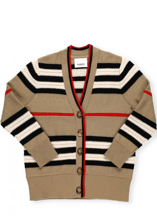 Wool blend and cashmere cardigan