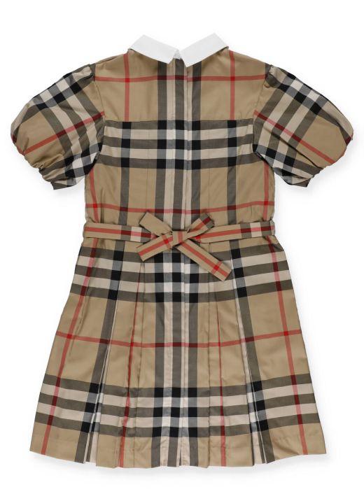 Tartan pattern dress