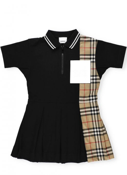 Polo dress with Vintage check insert