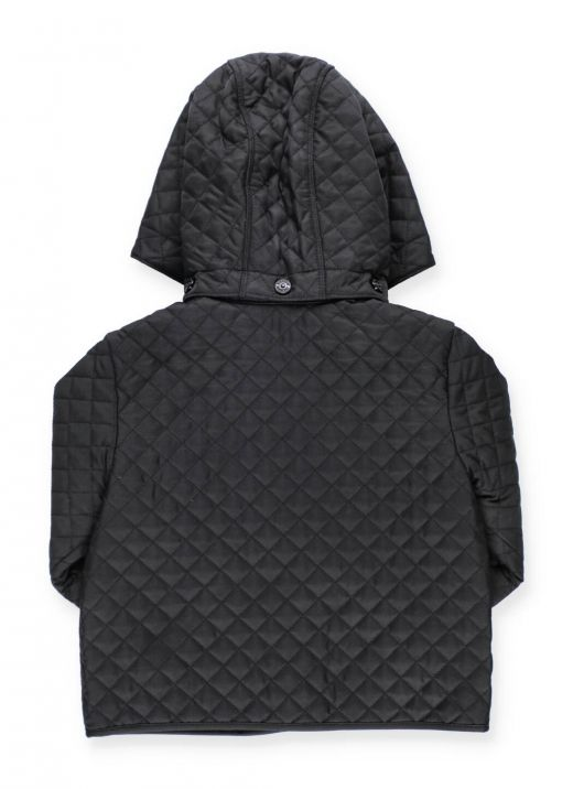 Quilted jacket with monogram