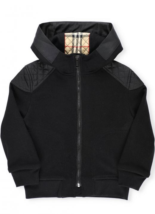 Sweatshirt with quilted inserts