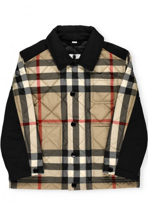 Rhombuses quilted jacket
