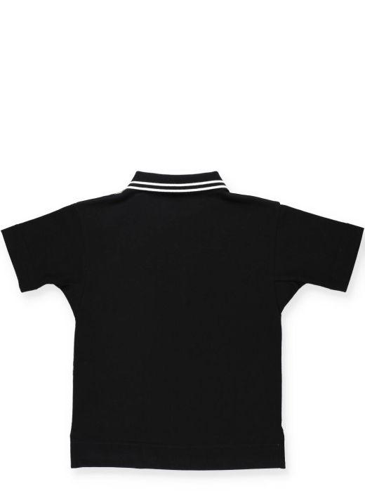 Short sleeved cotton polo shirt