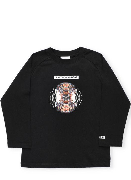 Collage print sweater