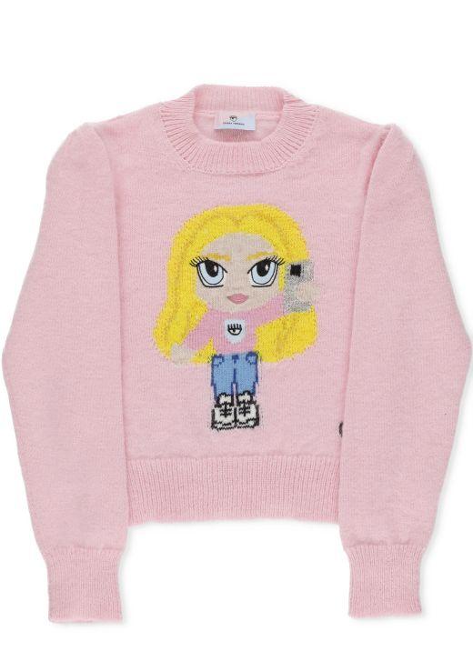 Chiara Ferragni x Monnalisa: CF Mascotte sweater