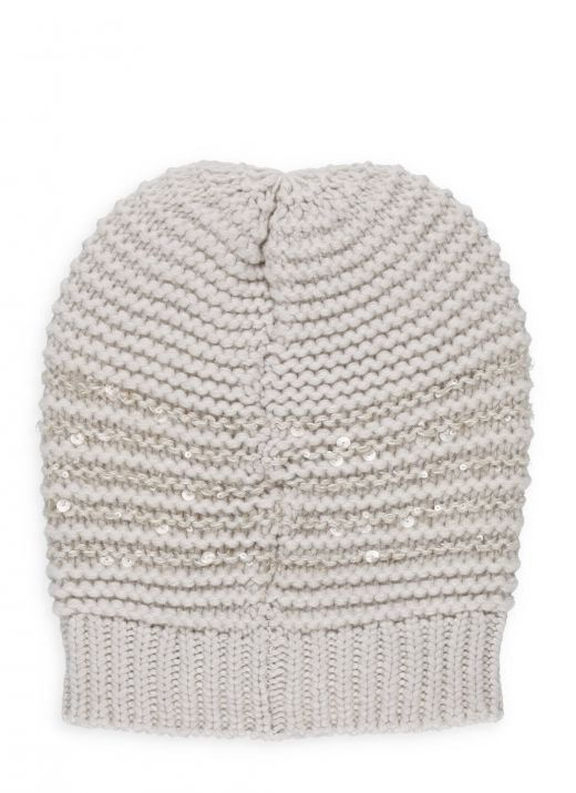 Cashmere, silk and wool skullcap