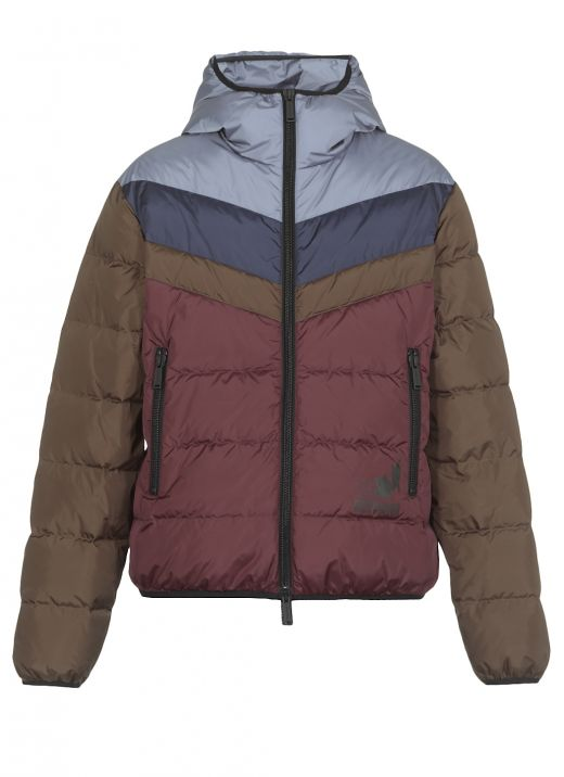 Color-block padded down jacket