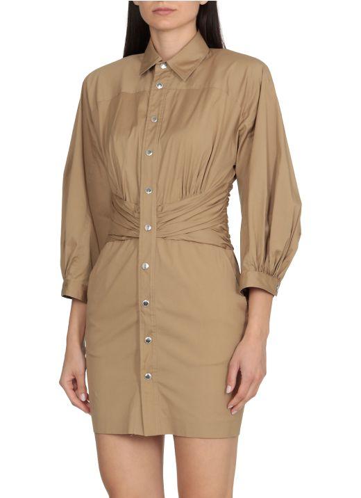 Cinched Shirt Dress