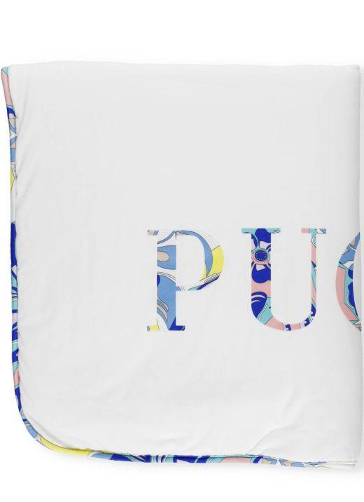 Blanket with logo print