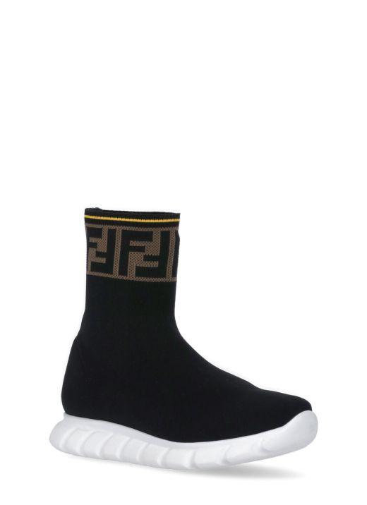 Logo Knitted Sneaker