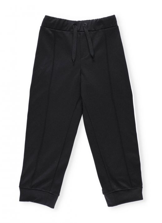 Trousers with loged band