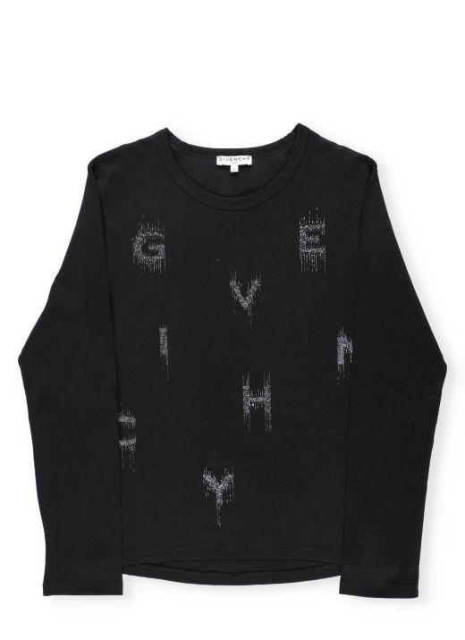 Sweater with metallic print