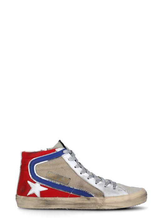 Slide suede sneaker