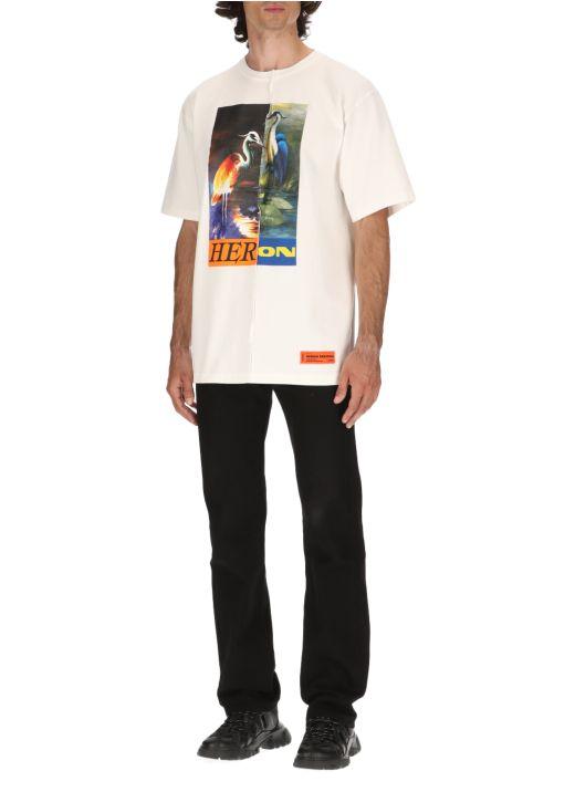 Split Light Heron T-shirt