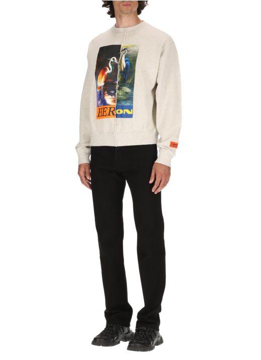 Split Light Heron sweatshirt