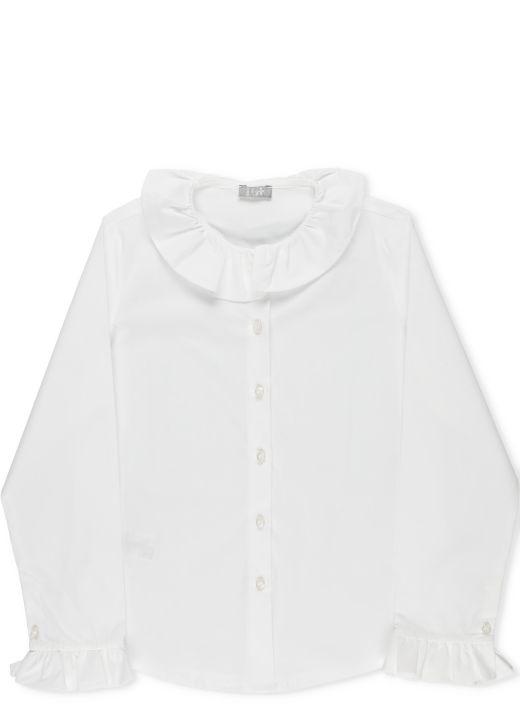 Shirt with frills