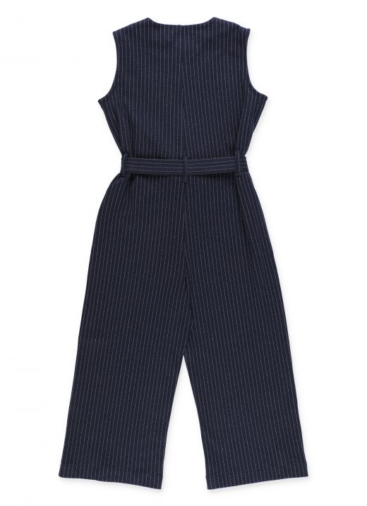 Pinstriped jumpsuit