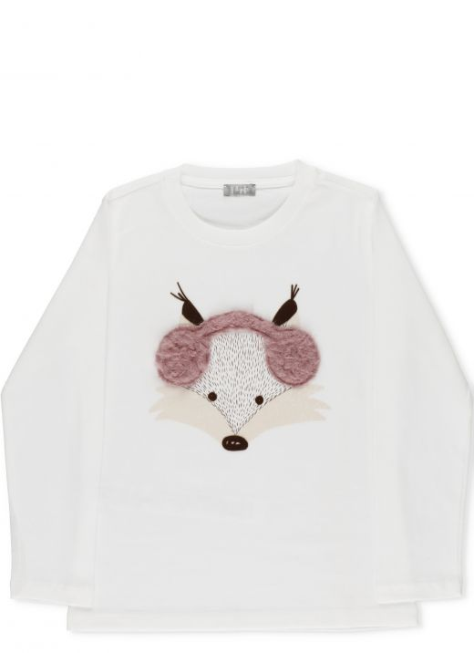 T-shirt with printed fox
