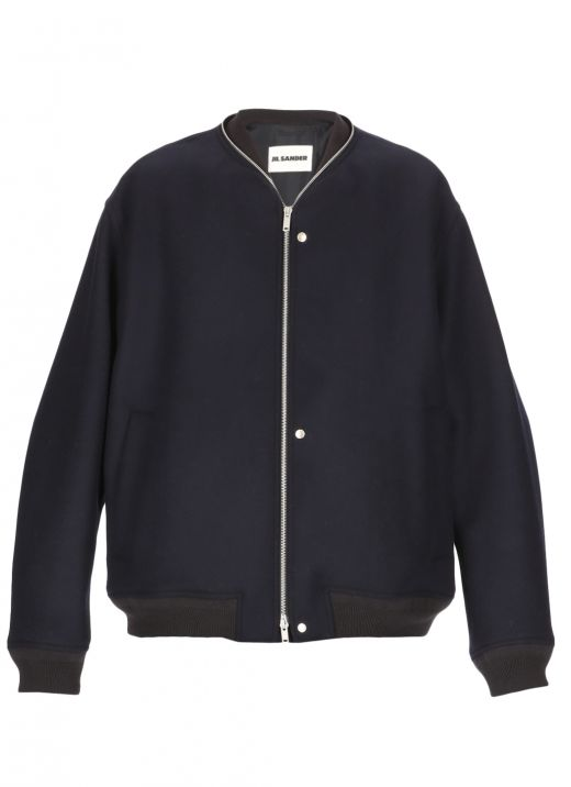 Zip-detail bomber jacket