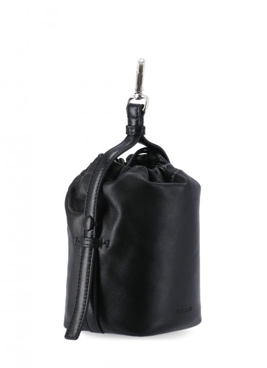 Clutch bag with hook and drawstring
