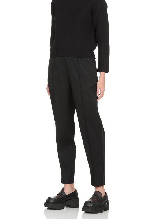 Virgin wool stretch trousers