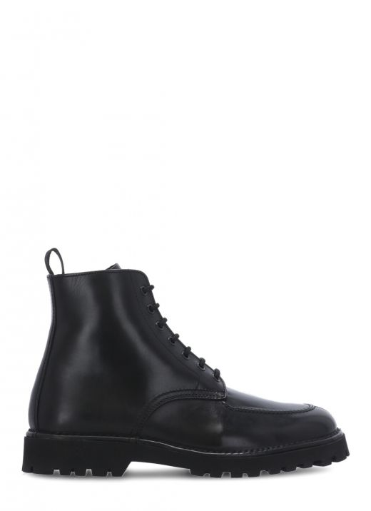 K-MOUNT laced leather ankle boots