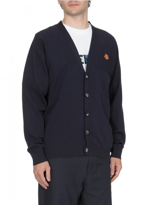 Knitted cardigan with logo