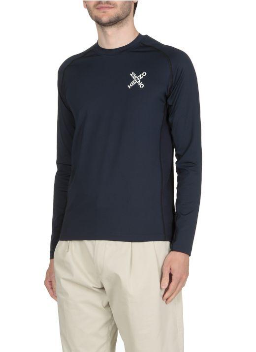 Stretch fabric sweater